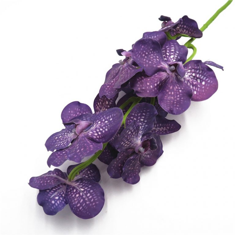 Real-touch-latex-purple-artificial-vanda-orchid